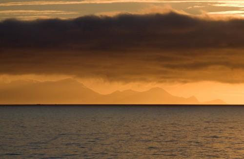 Montagnes à l'approche de l'Antarctique