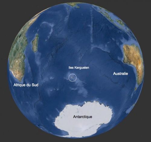 Localisation des Iles Kerguelen