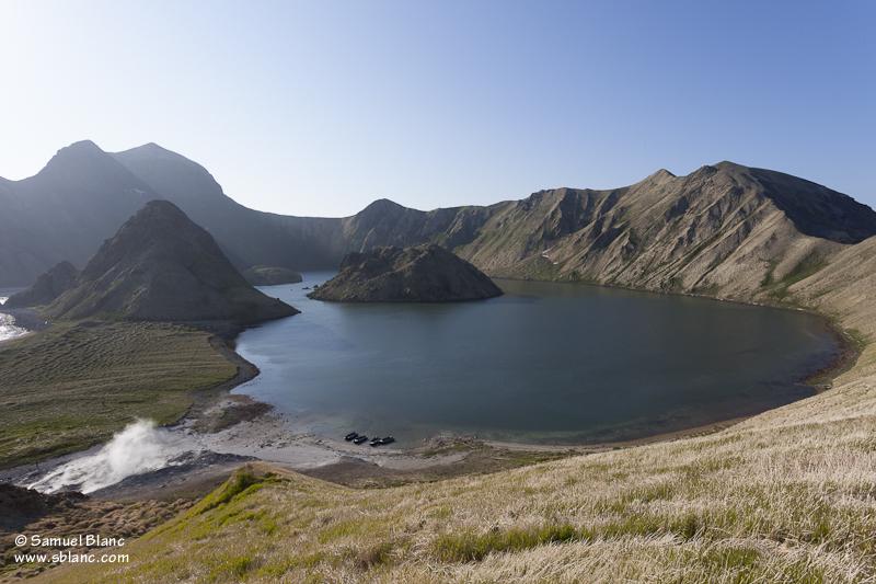 La caldera de l'île de Yankicha