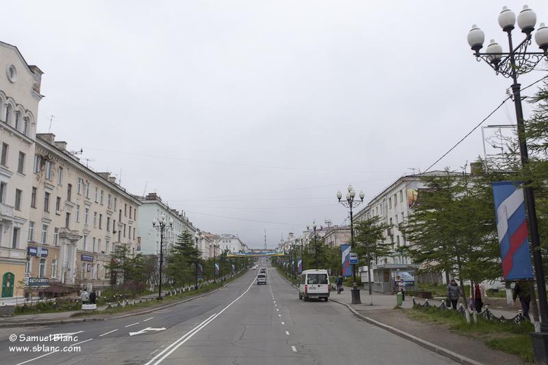 La rue Lénine à Magadan