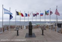 Buste de Richard Byrd à la base américaine de McMurdo