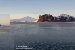Crêpes de glace, Mount Melbourne et cap Washington