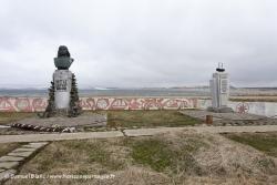 Statue de Vitus Béring aux îles du Commandeur