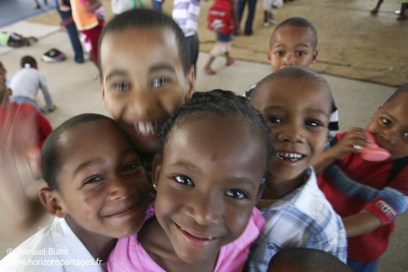 Dans une école d'un bidonville de Cape Town