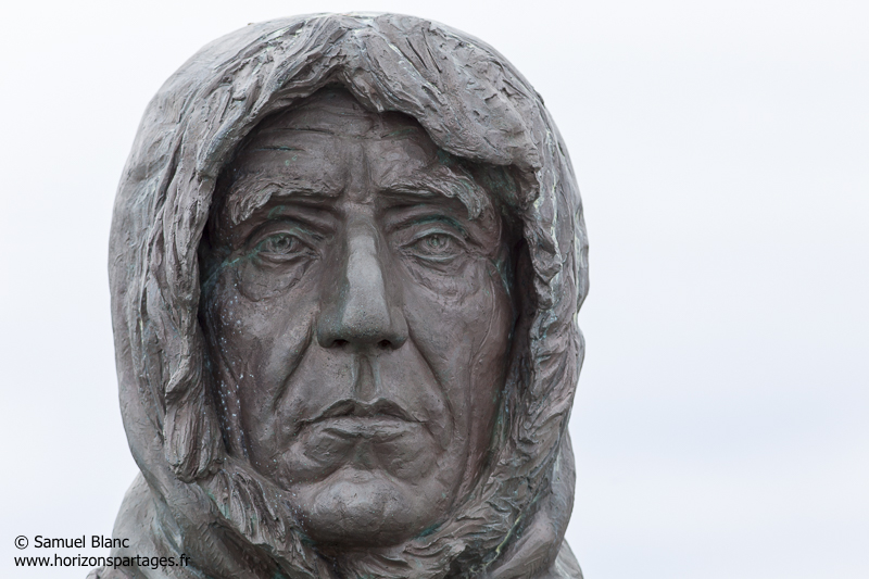Buste de Roald Amundsen à Ny-Alesund au Spitzberg