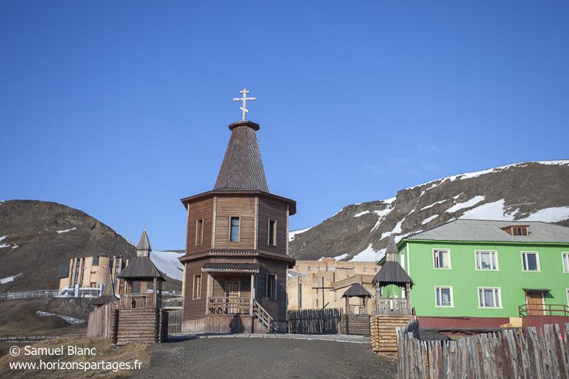 La ville minière russe de Barentsburg au Spitzberg