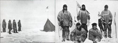 Amundsen et Scott au Pôle Sud