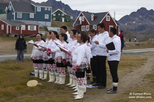 Chorale à Ammassalik au Groenland