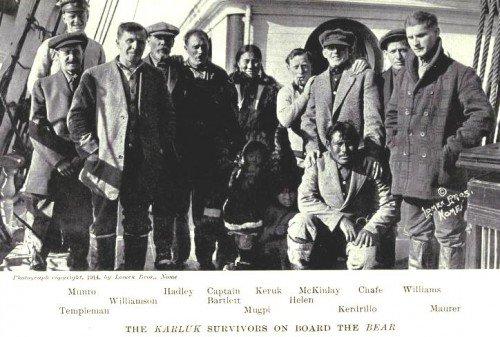 Les survivants du Karluk en 1914