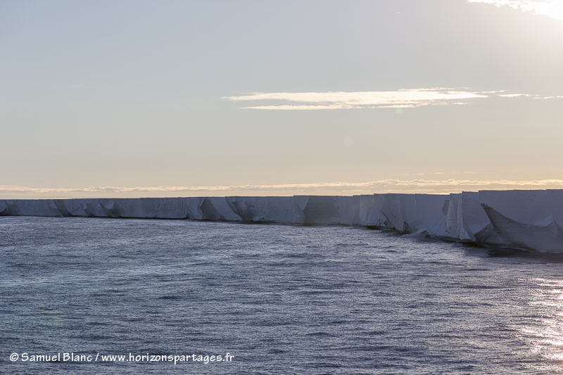 Front de glace de l'ice shelf de Ross