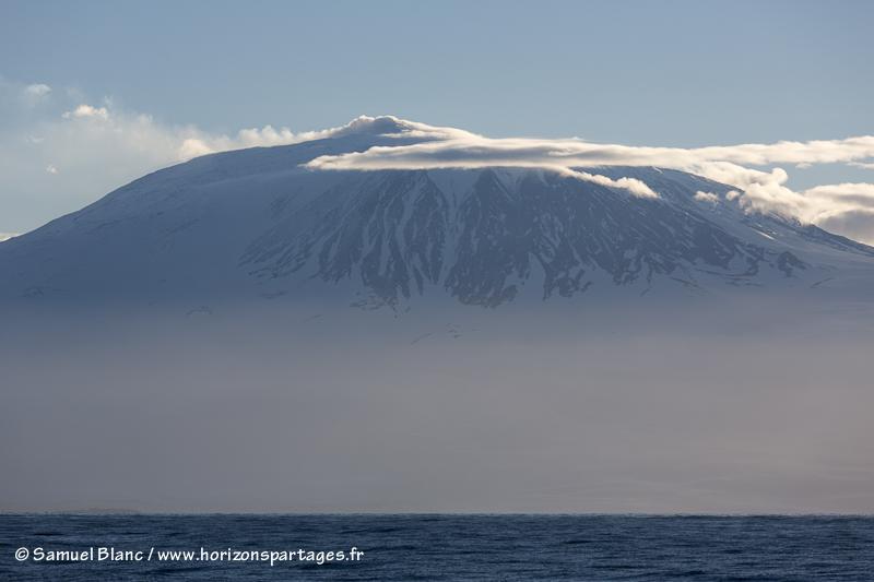 Mont Erebus en mer de Ross,
