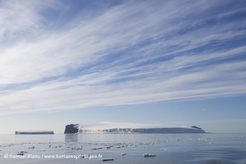 Franklin Island en mer de Ross
