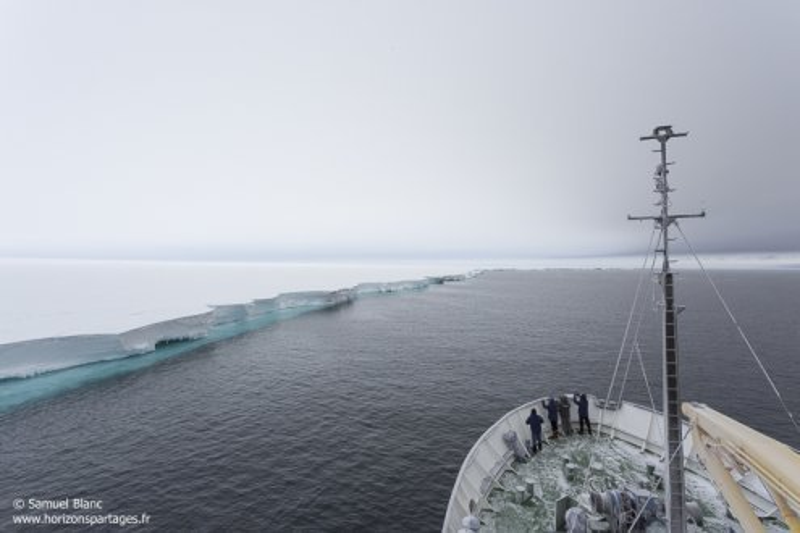 Bay of Whales en mer de Ross
