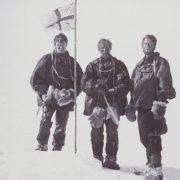 Douglas Mawson, Edgeworth David et Alistair Mackay le 16 janvier 1909
