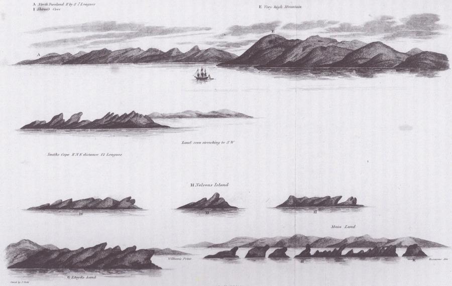 Première représentation des îles Shetland du Sud en 1819 par William Smith
