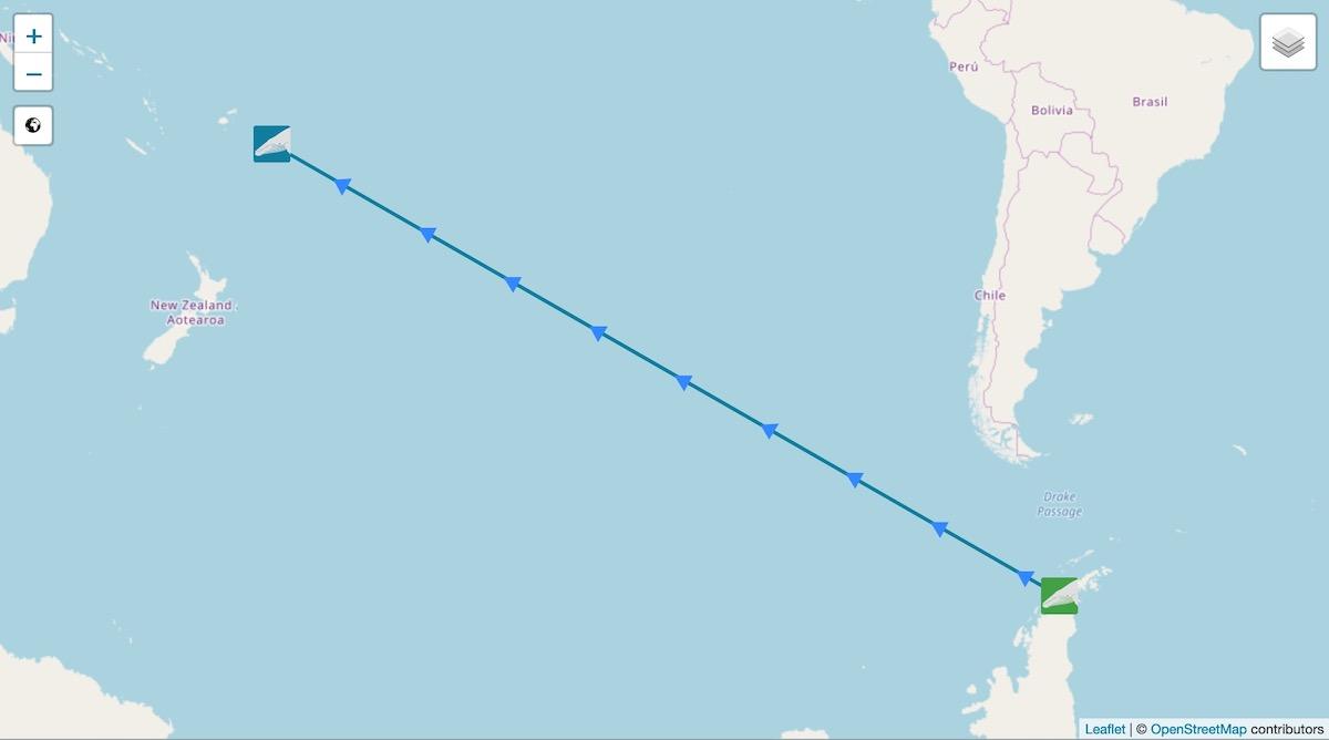 Migration d'une baleine à bosse de l'Antarctique aux Tonga